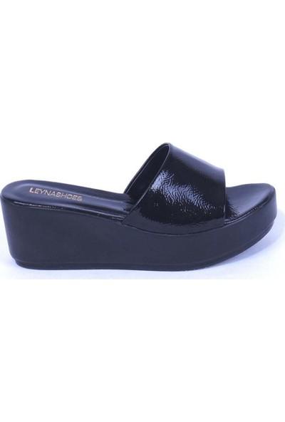 Ustalar Ayakkabı Siyah Kadın Dolgu Topuklu Terlik 542.2023