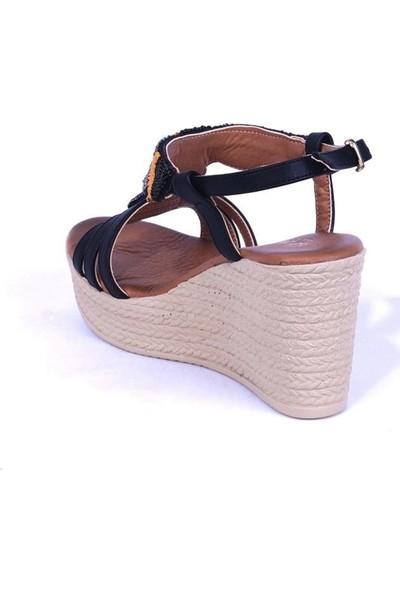 Ustalar Ayakkabı Siyah Kadın Sandalet 240.9055