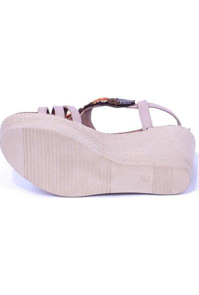 Ustalar Ayakkabı Ten Kadın Sandalet 240.9055