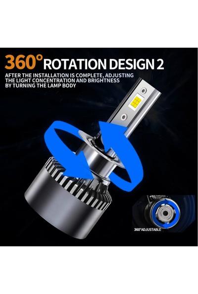 Kelvın H1 LED Xenon Far Ampul Şimşek Etkili Beyaz Güçlü Far