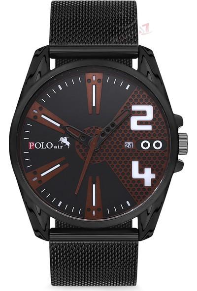 Polo Air Erkek Kol Saati ve Cüzdan Kemer Anahtarlık Bileklik Kombini PL-0107E3