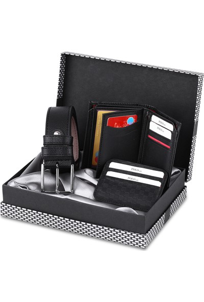 Polo Air Erkek Kol Saati ve Cüzdan Kemer Anahtarlık Bileklik Kombini PL-0371E1