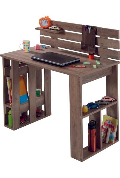Adetto Kuvars Çalışma Masası Patara Ceviz