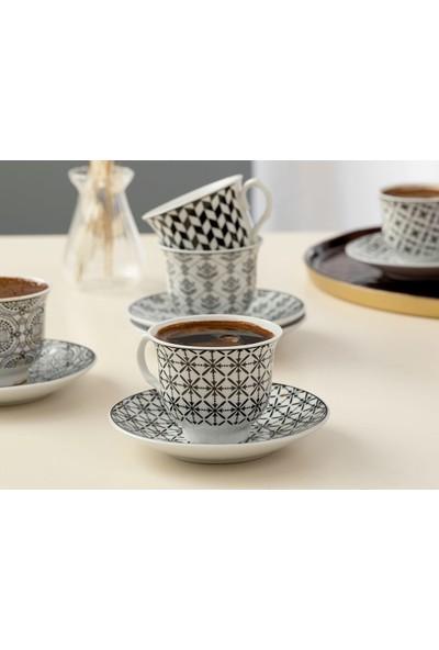 English Home Carey Porselen 12 Parça Kahve Fincan Takımı 90 ml Mavi