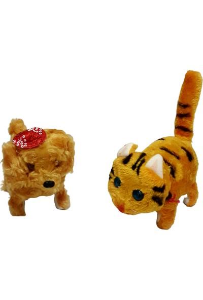 Kara Toys Pilli Yürüyen Kedi + Köpek 2'li