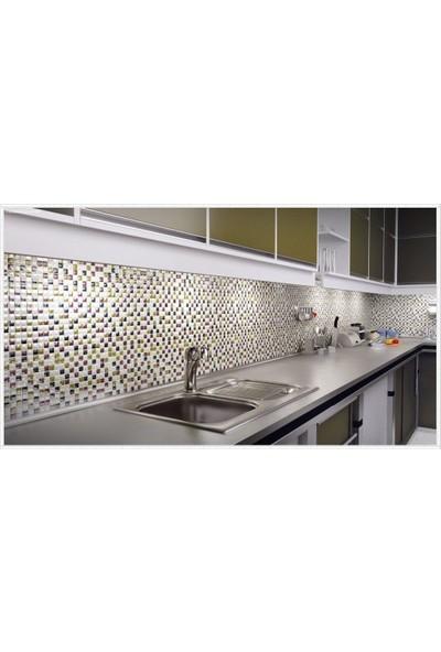 Orient Mutfak,banyo ve Havuz Için Sade Siyah 25X25 Cam Mozaik