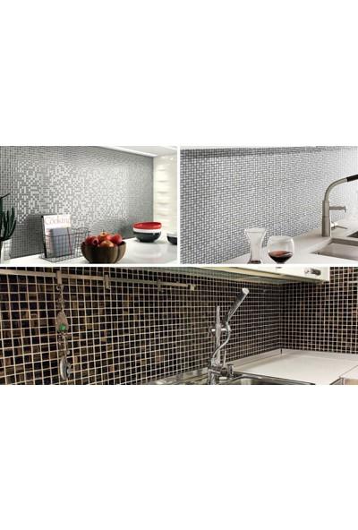 Orient Mutfak,banyo ve Zemin Için Beyaz Siyah Gri Yuvarlak Cam Mozaik