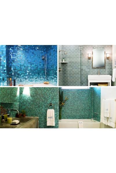 Orient Mutfak,banyo,havuz ve Zemin Için Sade Krem 10X10 Cam Mozaik