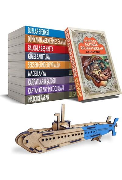 Jules Verne Seti + Ahşap Denizaltı Maketi