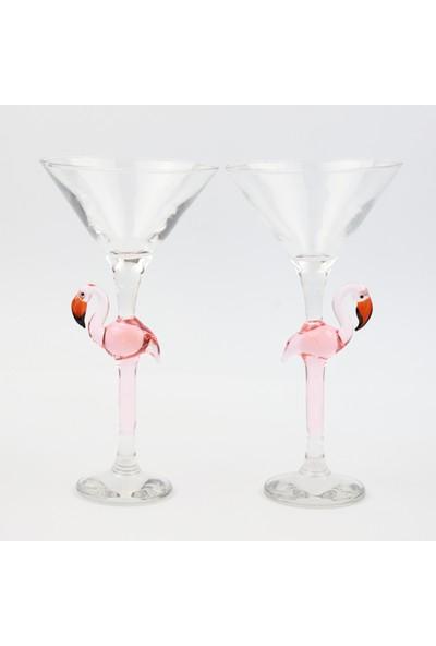 Adamodart Flamingo Tasarım Martini 2'li Kadeh