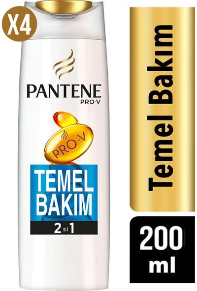 Pantene Şampuan Temel Bakım 2 Si 1 Arada 200 ml x 4'lü Set