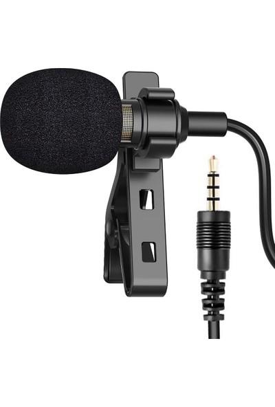 Recmic RC-V1SM Profesyonel Youtuber Kablolu Yaka Mikrofonu 2mt