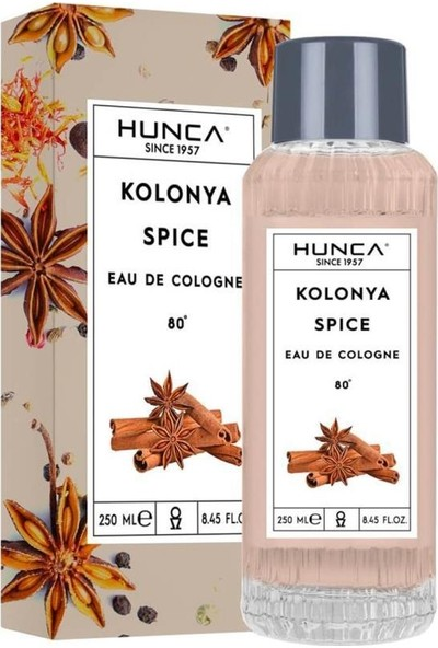 Hunca Kolonya Spice Cam 250 ml