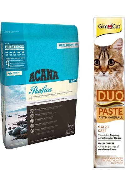 Acana Pacifica Kedi Maması 1,8 kg + Gimcat Duo Paste Peynirli Anti-Hairball Malt 50 gr