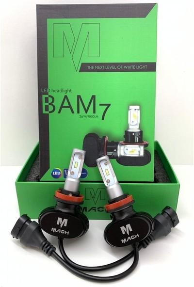 Mach Xenon LED Bam7 H11 Beyaz 12 V 36 W 9800 Lümen