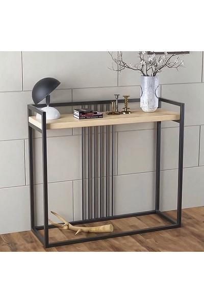 Orenc Craft Kayın Ahşap Metal Loft Dresuar 120 cm