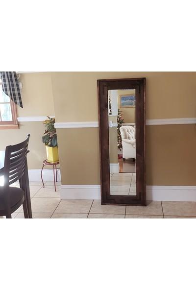 Orenc Craft Rustik Ahşap Duvar Boy Aynası