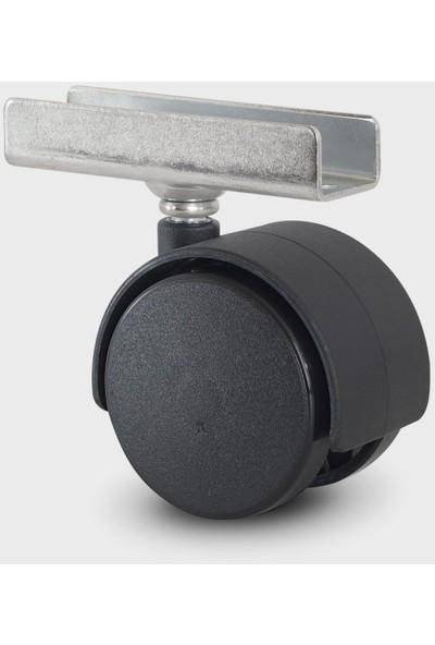 Joy Plastik 18 mm U Tablalı Geçme Mobilya Tekerleği 506 Mps
