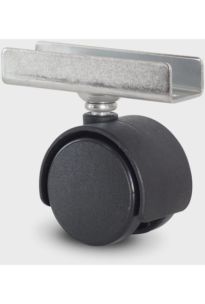 Joy Plastik 18 mm U Tablalı Geçme Mobilya Tekerleği 406 Mps