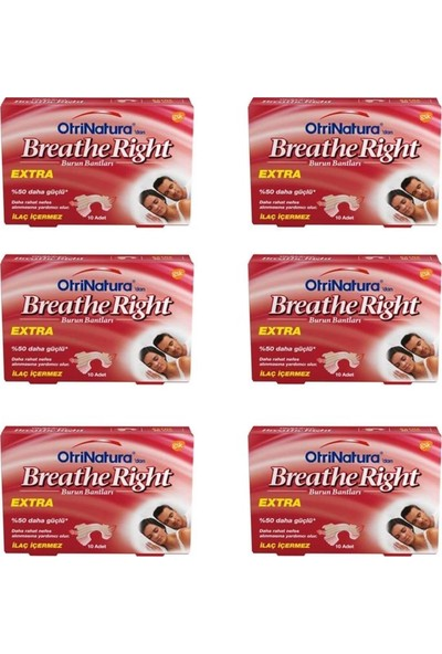 Breathe Right Ekstra Burun Bandı Normal Boy 10 Adet 6'lı Paket