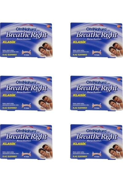 Breathe Right Burun Bandı Normal Boy 10 Adet 6 Lı Paket
