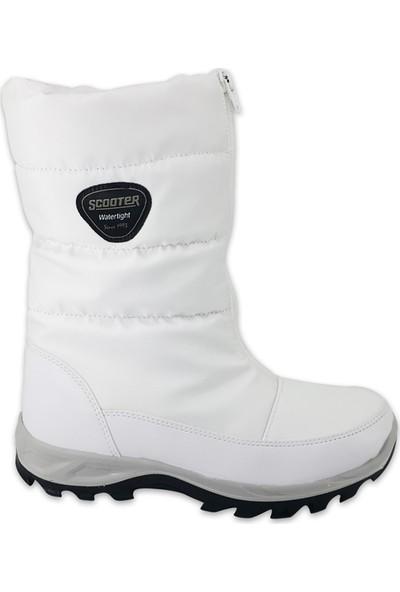 Scooter 5547 Su Geçirmez Günlük Kadın Bot Beyaz