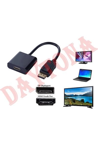 Daytona Çvr-01 Displayport To HDMI 4K Tv LCD Monitör Pc Laptop Dp Çevirici Dönüştürücü Adaptör