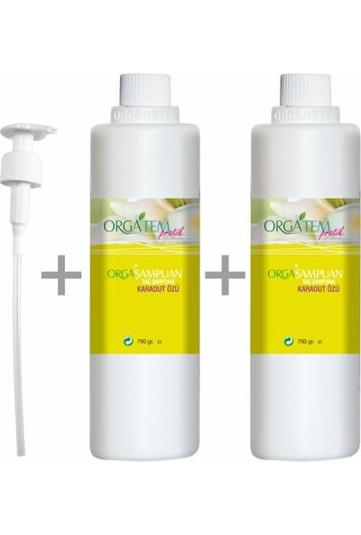 Orgatem Karadud Özlü Saç Şampuanı 750 gr 2'li Set