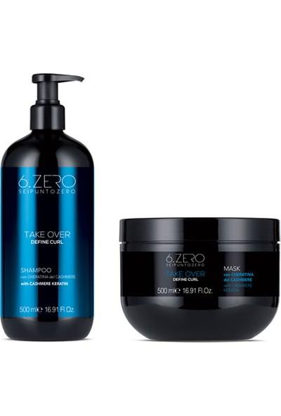 6.zero Take Over Define Curl - Dalgalı ve Kıvırcık Saçlar Için Maske ve Şampuan Seti