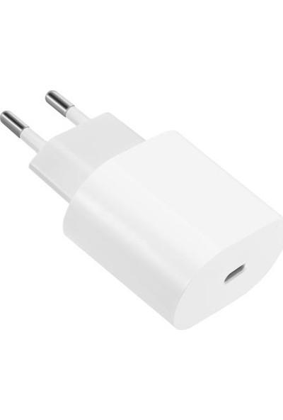 Bydiz Apple iPhone 11/11 Pro Max 18W Hızlı Şarj Cihazı ve 1 Metre USB C Lightning Şarj Kablosu Set