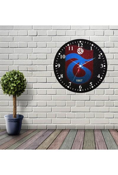 Reklamcım Trabzonspor Dekoratif Mdf Duvar Saati
