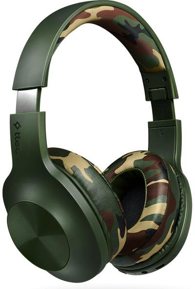 Ttec 2KM117S Soundmax 2 Kamuflaj Bluetooth Kulak Üstü Kulaklık Yeşil