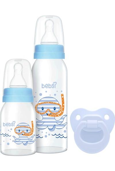 Bebsi 3'lü Set Cam - Mavi