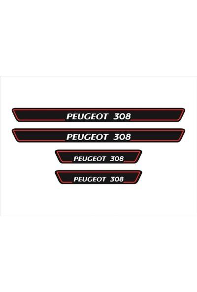 Ömr Dizayn Hediye Peugeot 308 4'lü Kapı Eşiği Oto Aksesuar