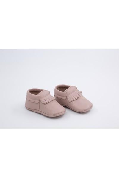 Li Puna Dani Serisi Pembe Deri Bebek İlk Adım Ayakkabısı