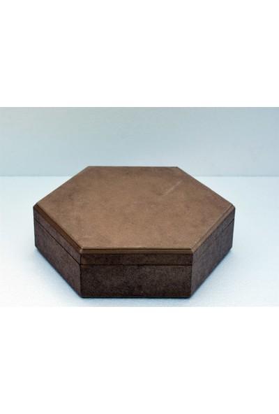 Baykon Mdf Altıgen Kutu Orta 16X16 cm