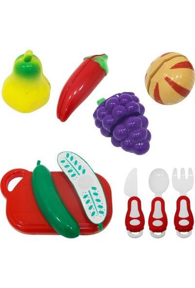 Birlik Oyuncak Poşette Meyve ve Sebze Kesme Seti 14 Parça