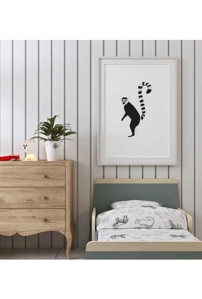 Dekoliya Çocuk Odası İçin Hayvan Figür Tablo