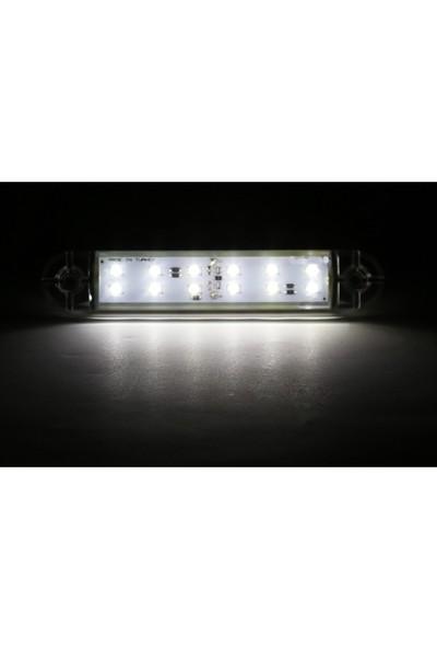 Ledshop Dekoratif LED Lamba 12 LED Çift Sıralı 12-24 V 5 Adet 13 cm