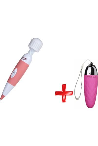 Rosyland Fairy Güçlü Ayarlanabilir Titreşime Sahip Masaj Aleti Titreşimli Vibratör+Mini Titreşimli Vibratör