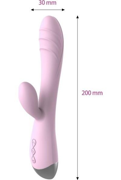 Rosyland 10 Modlu Su Geçirmez Şarj Edilebilir G-Spot ve Klitorise Özel Vibratör+Mini Titreşimli Vibratör