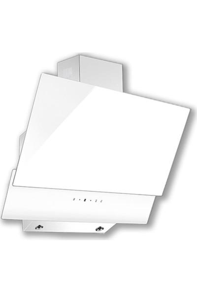 Luxell Ddt Beyaz Cam Dokunmatik Ankastre Üçlü Set (Davlumbaz DA6-835 - Ocak 40TAHDF - Fırın A6SF3)