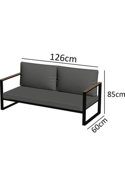 Evdemo Kobalt Bahçe Balkon Mobilyası 2+1+1 Mor