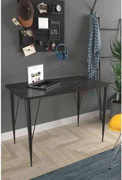 Evdemo Diana Çalışma Masası Siyah Mermer