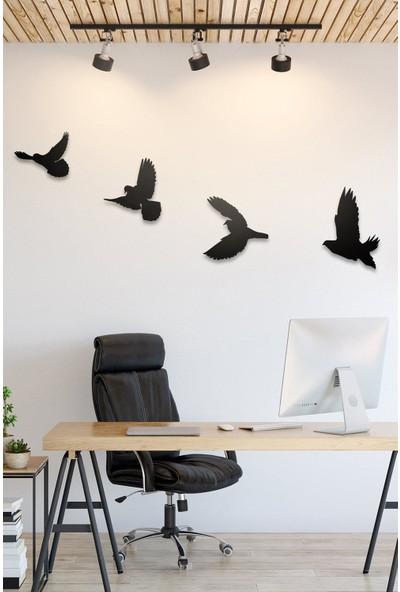 Ferman Hediyelik Dekoratif Modern Dörtlü Kuş Duvar Süsü
