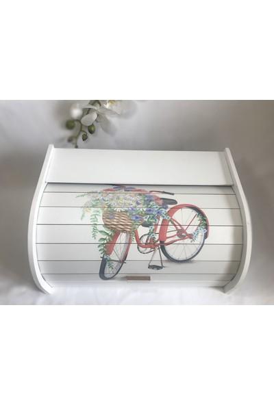 Evimsan Bisiklet Desenli Ekmek Dolabı