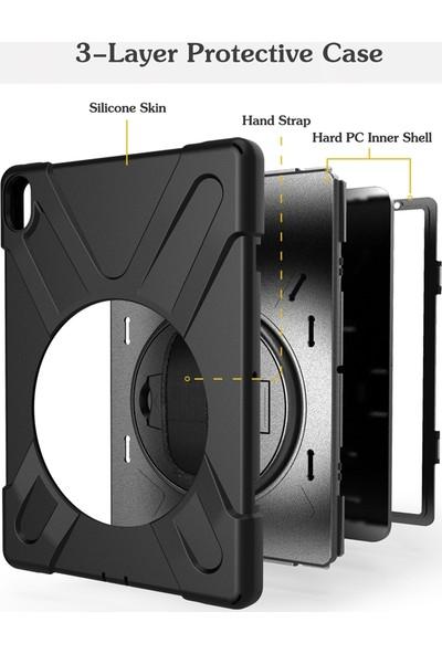 Case Street Apple iPad Pro 10.5 Kılıf Defender Tablet Tank Koruma Standlı Siyah