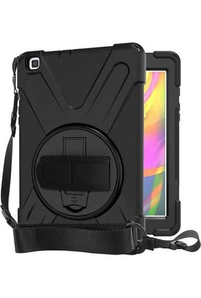 Case Street Samsung Galaxy Tab A 8.0 2019 T290 Kılıf Defender Tablet Tank Koruma Standlı Siyah