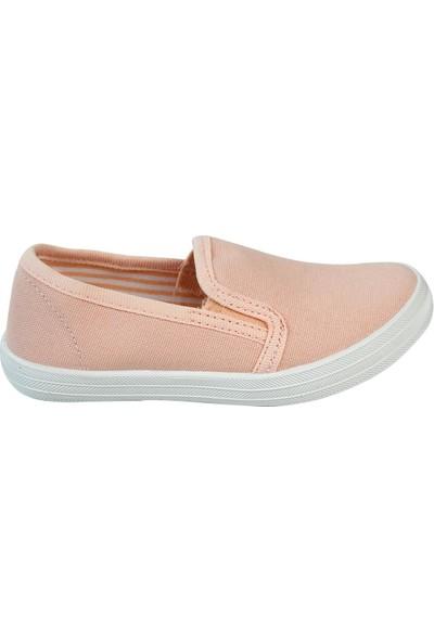 Civil Kız Çocuk Keten Ayakkabı 26-30 Numara Somon