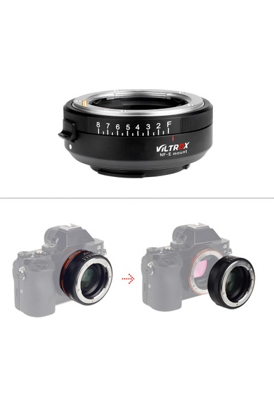Viltrox Nf-E Manuel Odaklama F Montajlı Lens Adaptörü (Yurt Dışından)